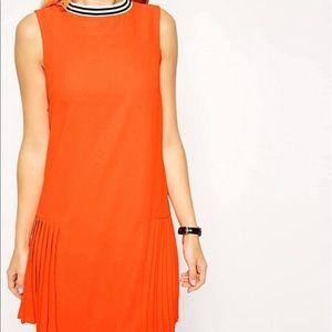 ASOS neon orange shift dress